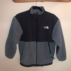 The North Face Gray and Black Fleece Jacket